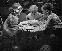 Vintage birthday party photo