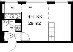 Vuokra-asunnot - Helsinki, Etelä-Haaga, 1h+kk, 29m² - Vanha viertotie 6, 00350, Helsinki | sato.fi