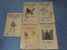 Early TSR publications - Dugeons & Dragons gaming adventures.
