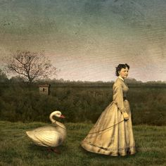 Woman with Swan | Maggie Taylor