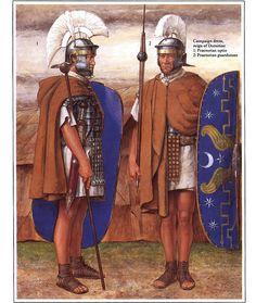 Roman warriors | roman warriors illustration of richard hook showing roman warriors of ...