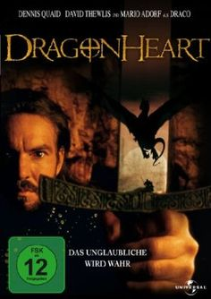 Dragonheart  1996 USA      Jetzt bei Amazon Kaufen Jetzt als Blu-ray oder DVD bei Amazon.de bestellen  IMDB Rating 6,3 (50.592)  Darsteller: Dennis Quaid, David Thewlis, Pete Postlethwaite, Dina Meyer, Jason Isaacs,  Genre: Action, Adventure, Drama,  FSK: 12
