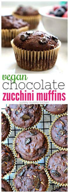 Vegan Chocolate Zucchini Muffins Recipe