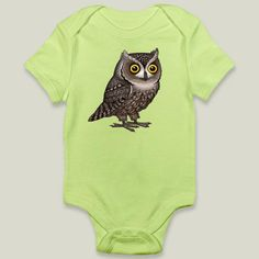 Otus Pocus by Pepetto. Fun Indie Art from BoomBoomPrints.com! https://www.boomboomprints.com/Product/pepetto/Otus_Pocus/Onesies/0-3M_Kiwi_Onesie/