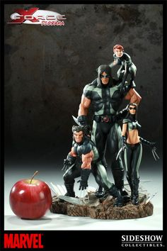 The latest to join Sideshow's line of Marvel collectibles is the X-Force Diorama. Each piece is individually painted and finished to exacting standards, each with its own unique quality and detail tha