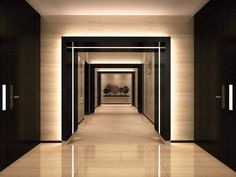 Elevator Lobby Of The Lagerstrasse House Office Building