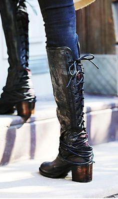 Steve Madden Rikter Cognac Leather Knee High Heel Boots | Knee ...