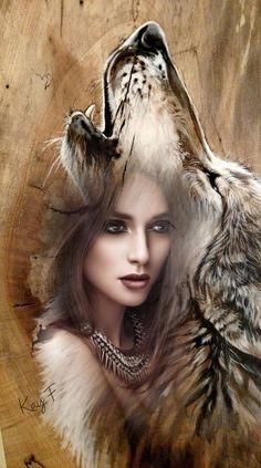 DIY Beautiful Wolf Crafts,Activities,Gifts & Decor,H… - Thanksgiving Wallpaper Native American Wolf, Native American Pictures, Native American Artwork, American Indian Art, Artwork Lobo, Wolf Artwork, Fantasy Kunst, Fantasy Art, Dark Fantasy