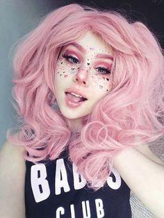 Halloween-Make-up Makeup Drawing drawings ideas scary easy Kawaii Makeup, Cute Makeup, Hair Makeup, Kawaii Hair, Kawaii Wigs, Anime Makeup, Awesome Makeup, Pretty Makeup, Pretty Hair