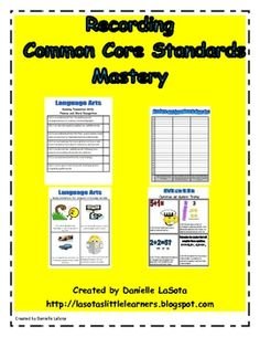 This download includes:-A student I can notebook with the first grade common core standards.-Whole class I can graphs using the first grade com...
