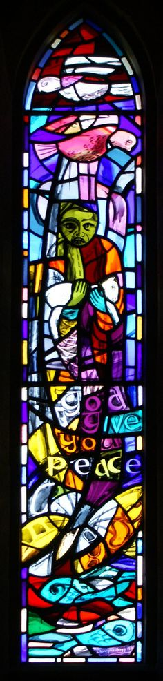 God Give You Peace | Stained glass by Douglas Hogg in St Mic… | Flickr - Photo Sharing!