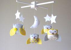Yellow and Gray Nursery Mobile