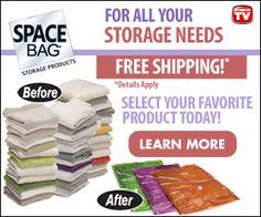 Space Bag Storage Products  - Spacebag Online Store - get free shipping