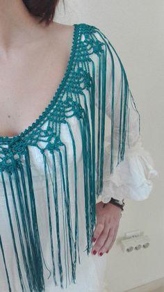 Crochet Blanket Edging, Crochet Borders, Flamenco Costume, Tribal Dance, Crochet Shawls And Wraps, Passementerie, Yarn Crafts, Crochet Projects, Tie Dye