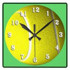 Framed Tennis Ball Sport Wall Clock