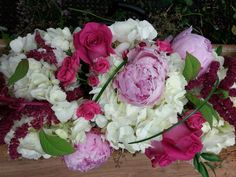 Pink and white red flower arrangement for wedding and event