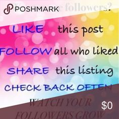 Like. Follow. Share. Grow Thanks for following. Now please pass it on....  #followgame    Follow game GUCCI in my PRADA Michael KORS loves Tory Burch ... Other