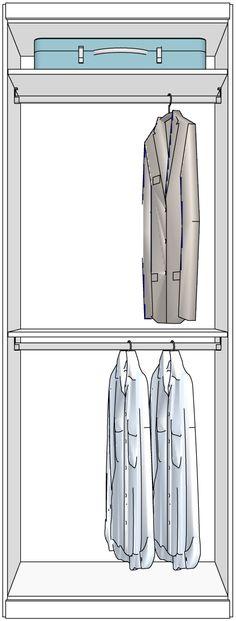 kleiderschr nke nach ma mit verschiedenen inneneinteilungen cabinet pinterest. Black Bedroom Furniture Sets. Home Design Ideas