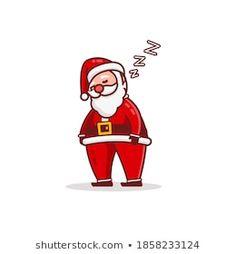 Stock Photo and Image Portfolio by Imajin No asking | Shutterstock Santa Cartoon, Cartoon Characters, Fictional Characters, Royalty Free Stock Photos, Sleep, Illustration, Artist, Image, Artists