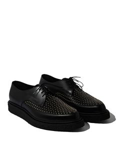 Saint Laurent Mens Studded Creeper Shoes