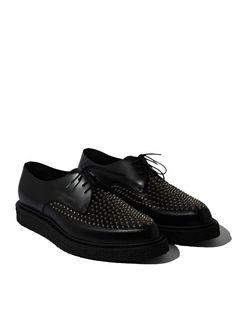 Saint Laurent Mens Studded Creeper Shoes