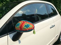 Crochet Car, Crochet Crafts, Car Accessories Diy, Yarn Bombing, Knitting Yarn, Lana, Crochet Patterns, Camping Ideas, Outdoor Camping