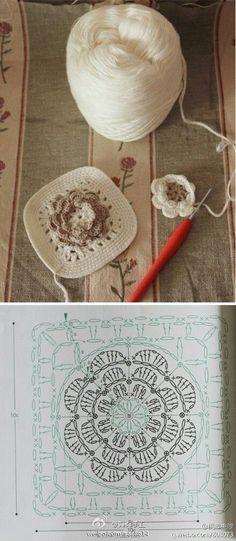 Transcendent Crochet a Solid Granny Square Ideas. Inconceivable Crochet a Solid Granny Square Ideas. Crochet Motifs, Crochet Blocks, Granny Square Crochet Pattern, Crochet Diagram, Crochet Chart, Crochet Afghans, Crochet Squares, Crochet Stitches, Crochet Patterns