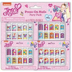 Press-On Nails Part Pack Color: MultiColored. Cute Nail Art, Cute Nails, Pretty Nails, Birthday Gift Bags, Happy Birthday Gifts, Bright Summer Acrylic Nails, Cute Acrylic Nails, Purple Nail Polish, Yellow Nails