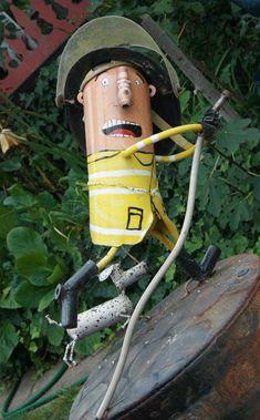 The work of the junk artist Patrick Amiot. Junk Art, Sonoma County, Sculpture Art, Garden Sculptures, Recycled Art, Yard Art, Metal Art, Gallery, Outdoor Decor