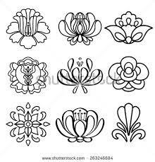 Resultado de imagem para floral black and white drawing