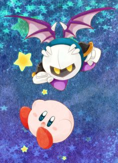 Kirby is adorable while Meta Knight is awesome.