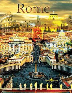 Rome IItaly Travel Poster via SmartiDesign