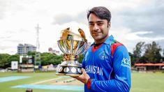 Rashid Khan photo-shoot with ICC Cricket World Cup Qualifier Trophy Sports Games, Sports News, World Cup Qualifiers, Icc Cricket, Different Sports, Cricket World Cup, Best Games, Afghanistan, Celebrity News