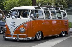 vw bus and it's orange!