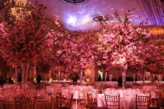 The six foot tall cherry blossom centerpiece at the Plaza Hotel - one of my favourite venues in the world!  I just loved my time at The Plaza!