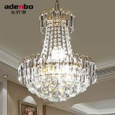 [ $19 OFF ] New Modern Gold Led Crystal Chandeliers Lighting Fixtures 40Cm 60Cm 80Cm 100Cm For Dining Room And Bedroom Lighting (Adb926)