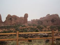 Standing Tall. True Rock Formation at Arches Nat'l Park in Utah.