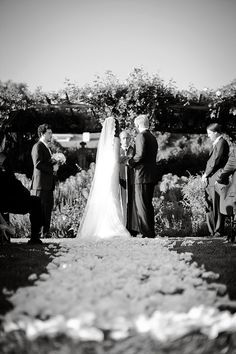 Outdoor wedding ceremony at San Ysidro Ranch