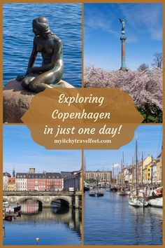 Exploring Copenhagen in just one day: Learn what to do including seeing the Little Mermaid, strolling along the canals and enjoying a harbor view. Cruise Excursions, Cruise Destinations, Cruise Port, Packing For A Cruise, Cruise Travel, Cruise Tips, Copenhagen Travel, Copenhagen Denmark, European Destination