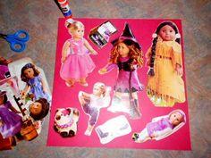 Silver Linings ~ American Girl Catalog, paper doll tutorial