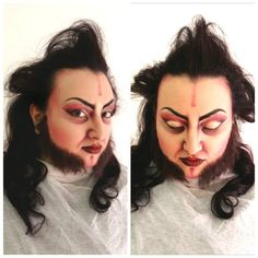 characterizing theatrical make up @ Accademia Teatro alla Scala  Model: Erica  Makeup design by Gloria Bordin Art 906