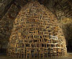 Tadashi Kawamata: Chair installation
