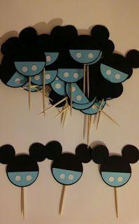 Festa Mickey Baby, Fiesta Mickey Mouse, Mickey Party, Mickey Mouse And Friends, Mickey Mouse Baby Shower, Baby Mouse, Baby Shoer Ideas, Mickey Mouse 1st Birthday, Cupcake Toppers