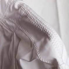 Embroidery on shoulder of Linen shirt to women's Åmli bunad Norway