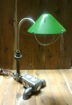 Industrial Pipe Desk Lamp. Flexible Height. On/off