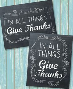 Give Thanks Free  Printables... Love it!