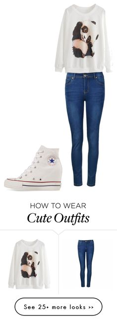 """""""I would love this panda outfit won't you"""" by babypanda16 on Polyvore featuring Ally Fashion and Converse"""