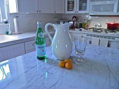 DuPont Zodiaq Blue Carrara quartz countertop