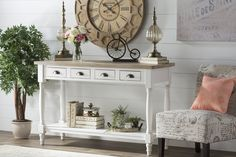 Get inspired by French Country Living Room Design photo by Lark Manor. Wayfair lets you find the designer products in the photo and get ideas from thousands of other French Country Living Room Design photos. Country Decor, Farmhouse Decor, Country Cottage Decorating, Farmhouse Style, Country Office, Cottage Design, French Country Living Room, Foyer Design, Foyer Decorating