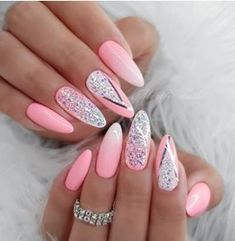Free Womens Nails Greeting has a unique greeting card collection which includes betty boop,cartoons,birthday and holidays. Fancy Nails, Pink Nails, Cute Nails, Pretty Nails, Pink Nail Art, Pastel Nails, Gorgeous Nails, Stiletto Nail Art, Cute Acrylic Nails